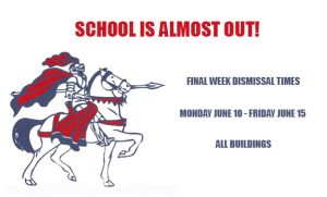 Final Week of School Dismissal Times