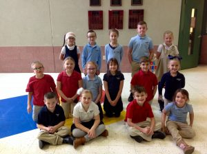 1st-3rd Grade Students of the Month for October