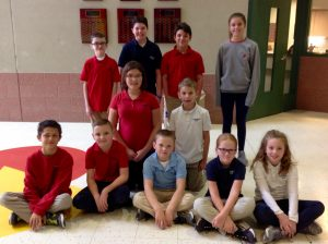 4th-6th Grade Citizens of the Month for October