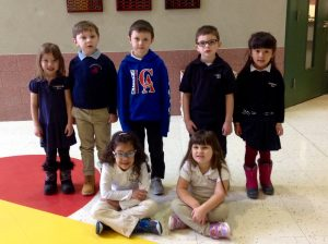 Pre-K and Kindergarten Students of the Month for October
