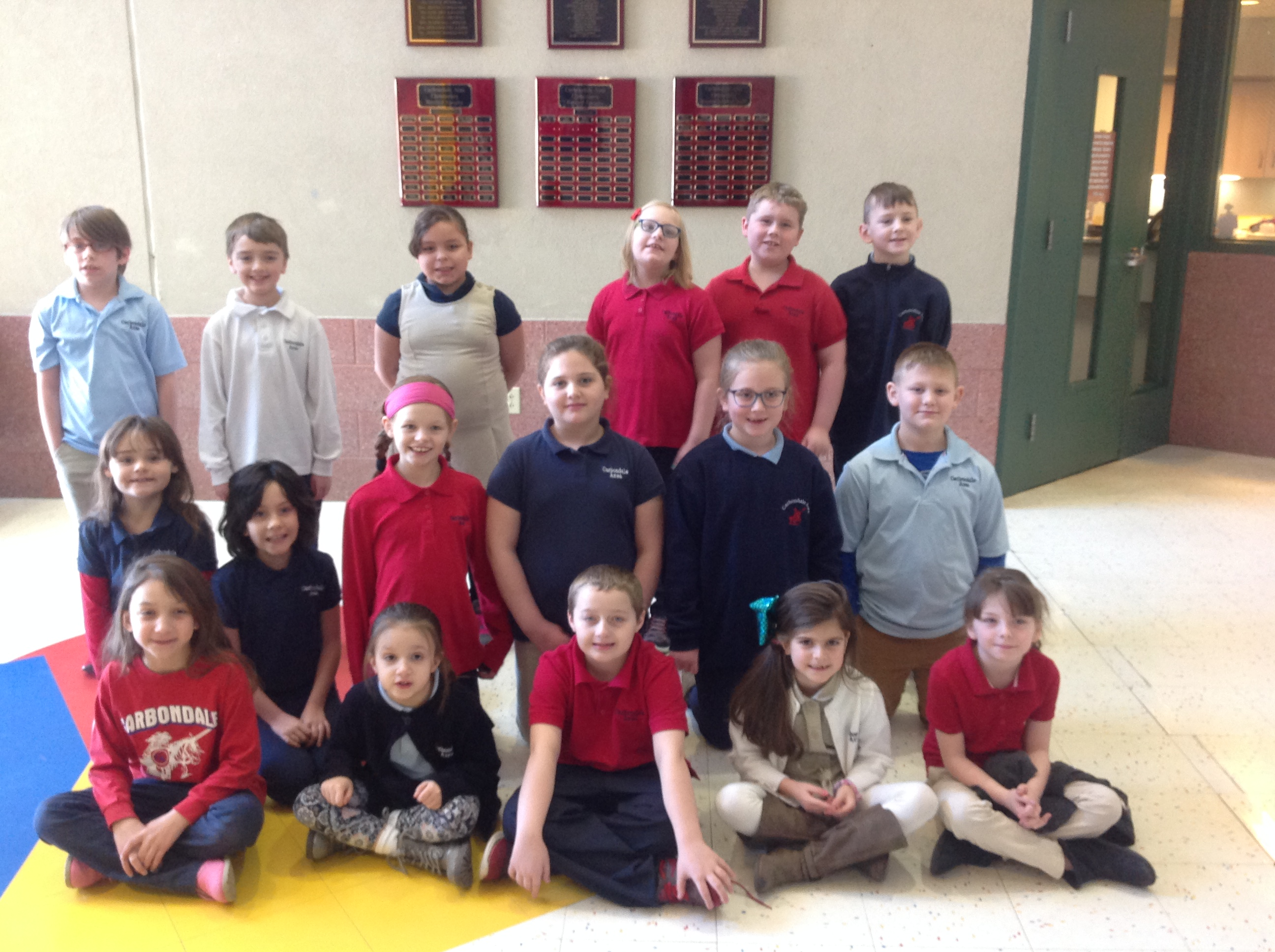 1st-3rd Grade Citizens of the Month for December