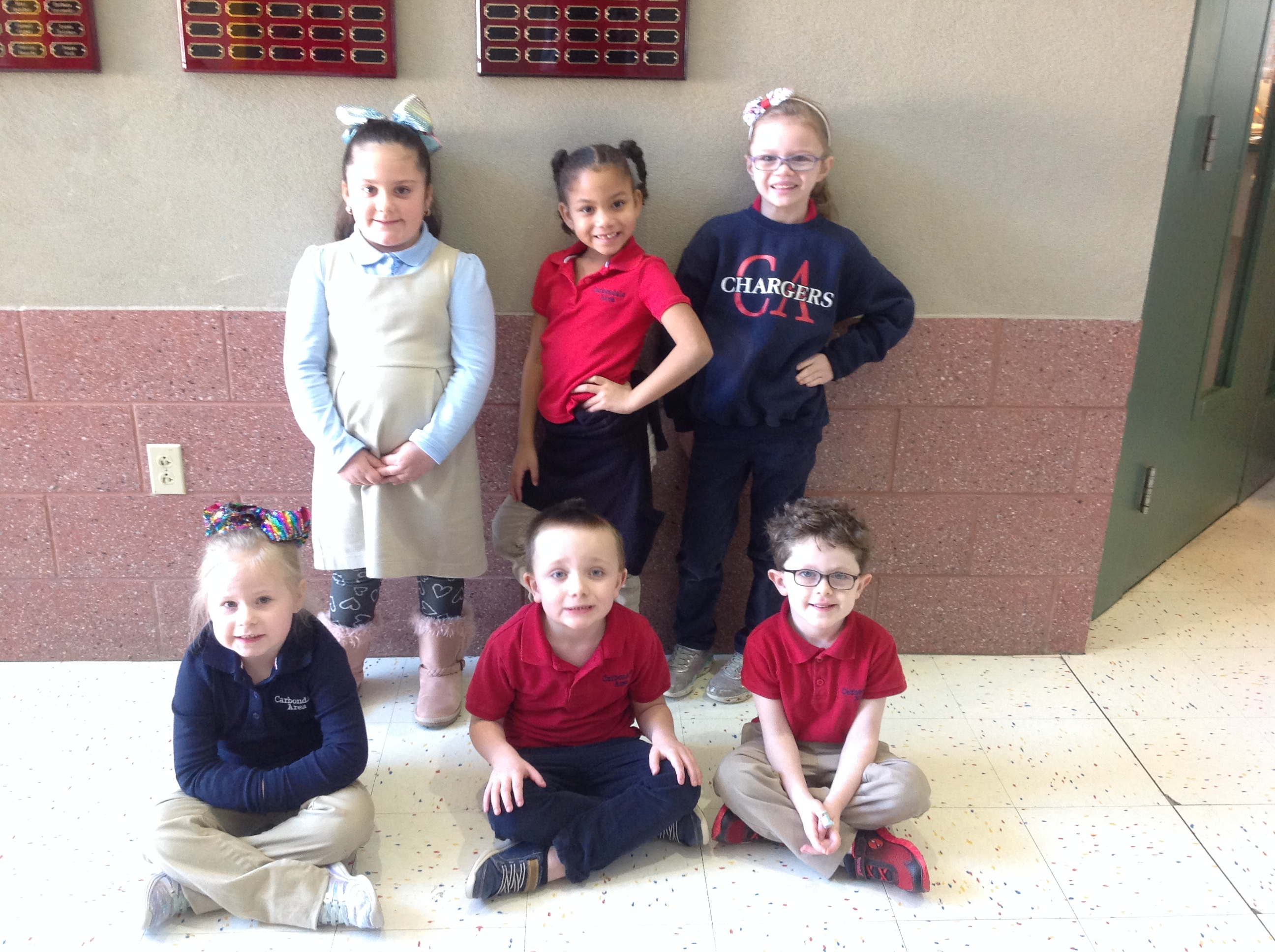 Pre-K and Kindergarten Citizens of the Month for December