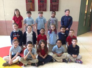 1st-3rd Grade Students of the Month for December
