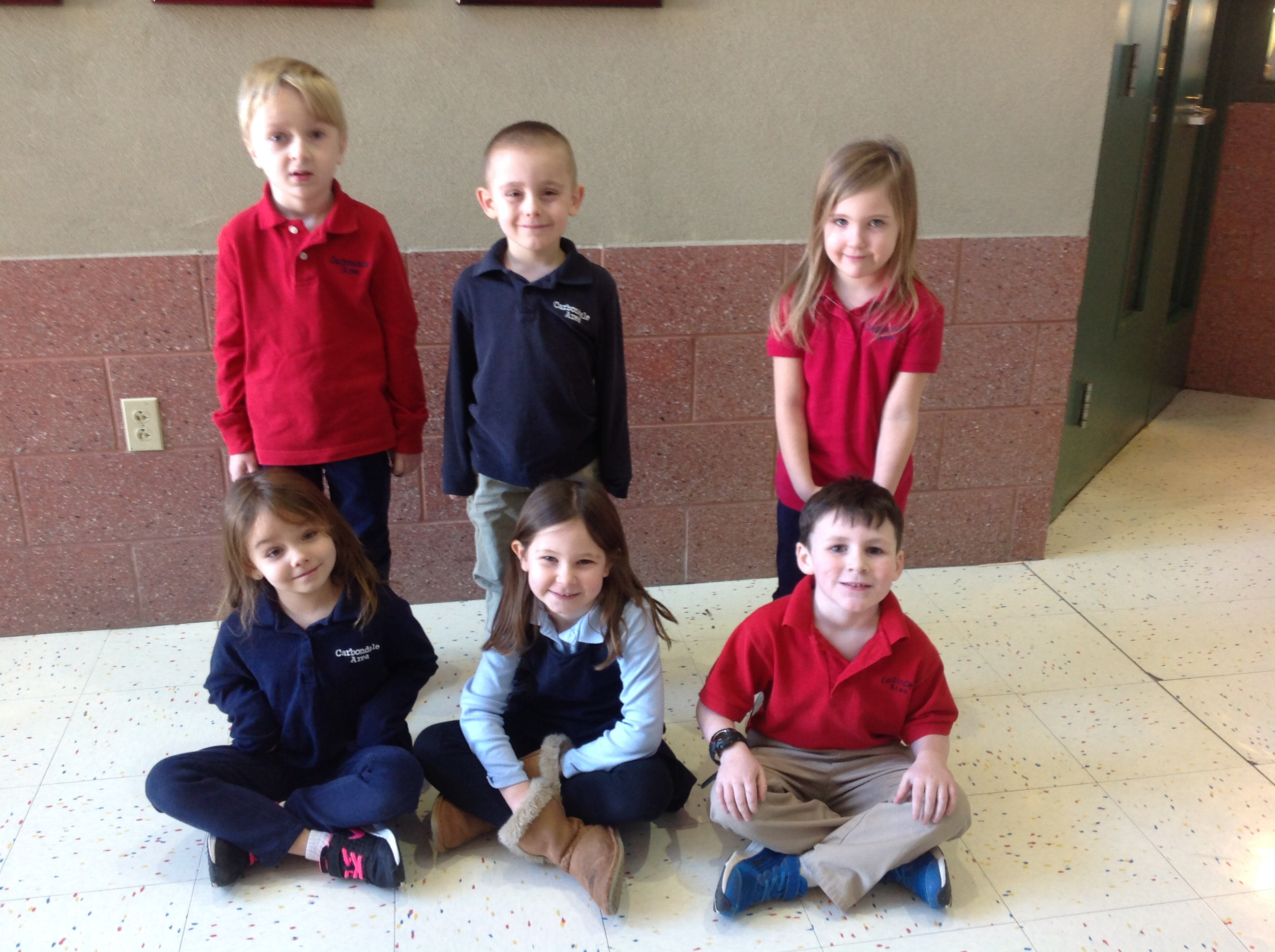 Pre-K and Kindergarten Students of the Month for December