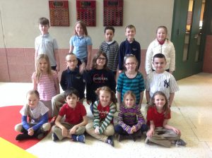 1st-3rd Grade Students of the Month for January
