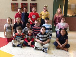 1st-3rd Grade Citizens of the Month for January