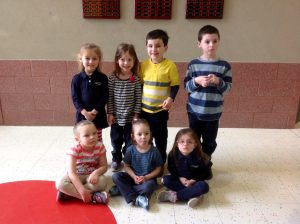 Pre-K & Kindergarten Students of the Month for January