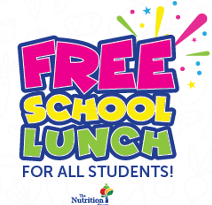 FREE SCHOOL LUNCH FOR ALL STUDENTS