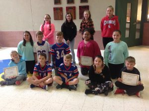 4th-6th Grade Citizens of the Month for September
