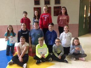 4th-6th Grade Students of the Month for September