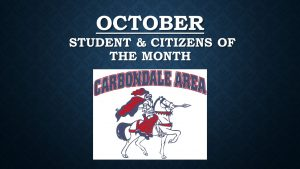 Elementary- October Student & Citizens of the Month