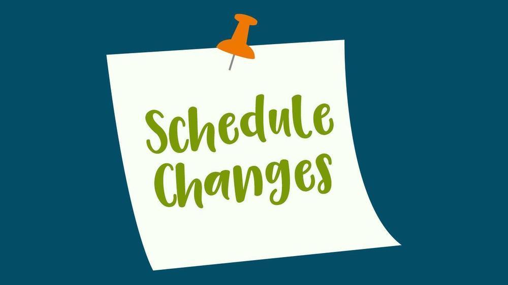 Jr. Sr. High School Schedule Change Request Form