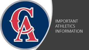 Important Athletics Information
